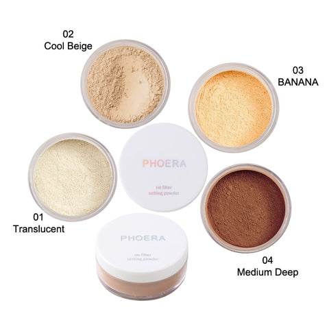 Makeup Face Loose Powder Oil Control Setting Powder Face  Smooth Natural Concealer Cosmetic