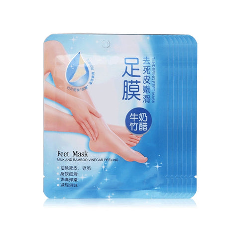 Milk Bamboo Vinegar Exfoliating Foot Mask Socks