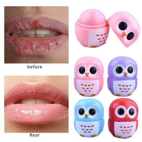 1pc Cartoon Owl Lip Balm Moisturizing