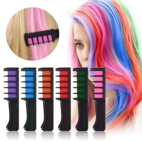 Mini Hair Dye Comb Disposable Crayons Hair Color Chalk Hair Dyeing Tool