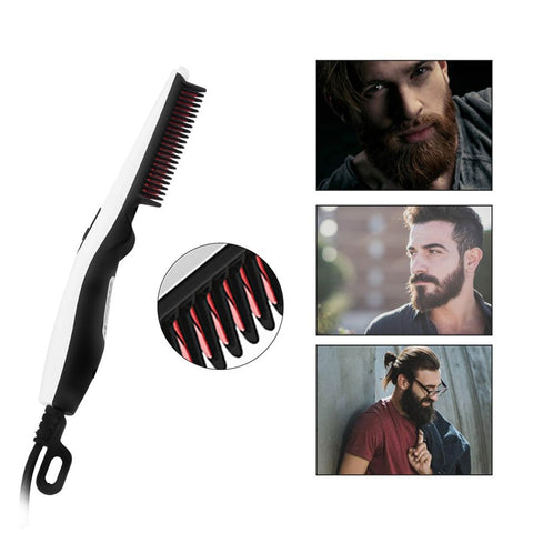 Straightening Beard Comb Brush Hair Styler for Men