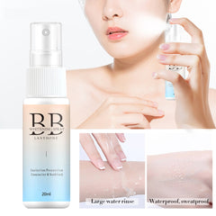 Body Face Skin Whitening Makeup BB Cream Spray Isolation Moisturizing Refreshing Nude Make Up Skin 20ml Liquid Foundation - vendilos