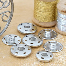Load the picture into the gallery viewer, snap fasteners for sewing on, nickel-free in 15 - 17 - 19 - 21 or 25 mm