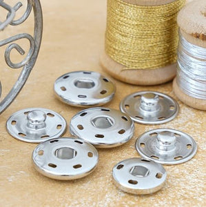 Snap fasteners for sewing on nickel-free in 15 - 17 - 19 - 21 or 25 mm