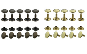 Hollow rivets double head 6-7-9-10-13 mm base material brass
