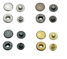 Load image into Gallery viewer, brass snap fasteners S-spring in 10 mm, 12,5 mm & 15 mm