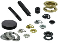 Set + 100 eyelets DIN 7332, Ø 10mm - 16mm, stainless steel, brass, steel