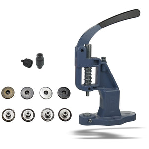 Hand press starter package with 50 jeans buttons and tools