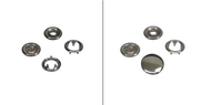 Snap fasteners in 7,8 mm, 9,5 mm or 10,5 mm