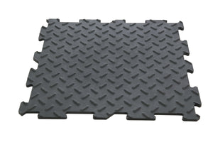 PVC tile garage floor or workshop with non-slip click installation
