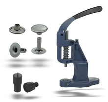 Load the image into the gallery viewer, starter package riveting press + 125 pieces of rivets single head 6mm, 7mm, 9mm, 12mm steel