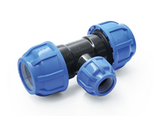 Load the picture into the gallery viewer, PP fitting screw connection for PE pipes compression connectors