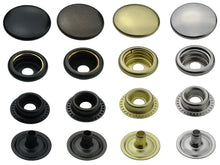 Charger l'image dans la galerie, brass ring-spring snap fasteners in 12,5mm