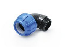 Load image into Gallery viewer, PP fitting screw connection for PE pipes compression connectors