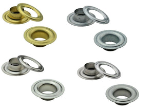 Eyelets DIN 7332, Ø 10mm to 16mm, brass, steel or stainless steel V2A