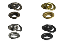 Load the image into the gallery viewer, brass eyelets from IstaTools® in 3mm, 4mm, 5mm, 6mm or 7mm inside dimensions