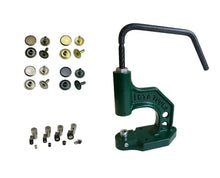Load image into Gallery viewer, starter package screw press with 125 pieces hollow rivets single head 6mm, 7mm, 9mm, 12mm steel
