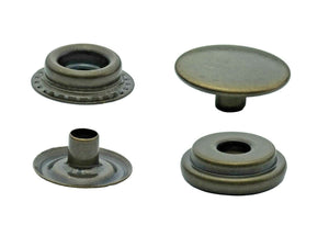 Brass ring spring snap fasteners in 15mm