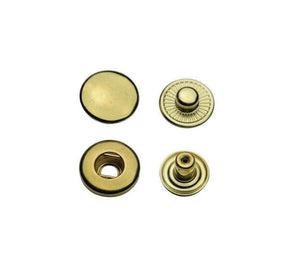 Brass snap fasteners S-spring in 10 mm, 12,5 mm & 15 mm