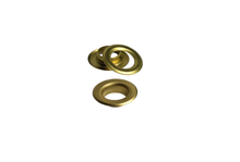 Load image into Gallery viewer, brass eyelets from IstaTools® in 10mm, 12mm or 17mm internal dimensions