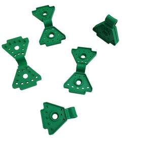 Fastening clips for windscreen, shading net, windbreak net