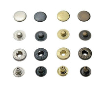 Load image into Gallery viewer, S-spring press studs 10 mm, 12,5 mm, 15 mm, steel, for fabric, leather and much more.
