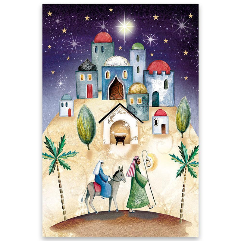 O Little Town of Bethlehem Christmas cards - pack of 10