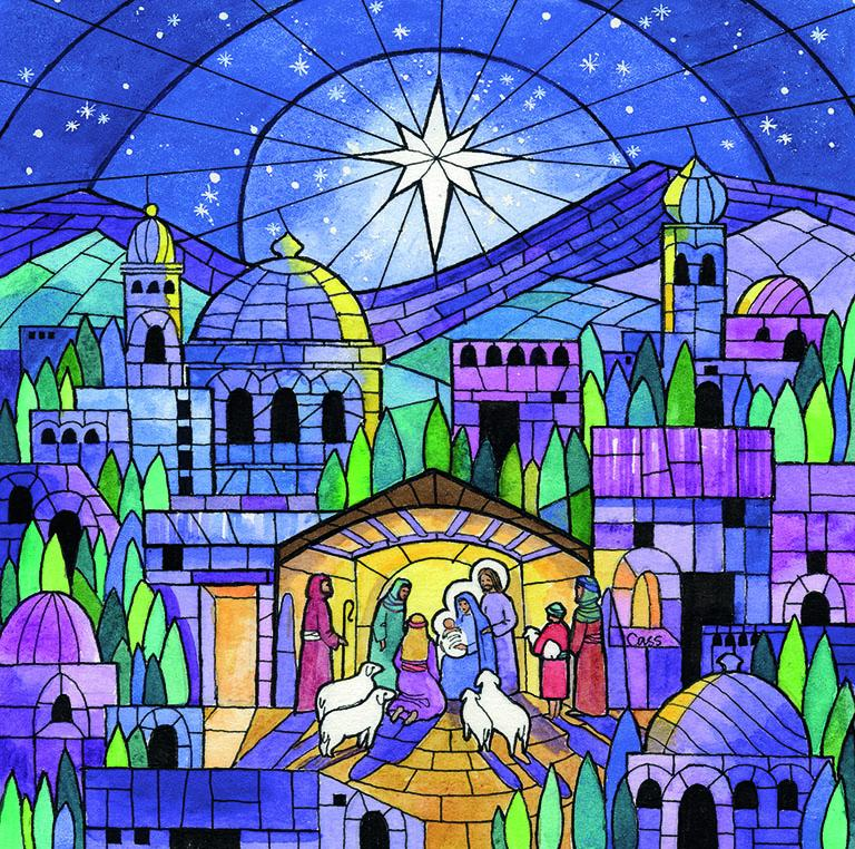 Bethlehem Mosaic Christmas cards - pack of 10