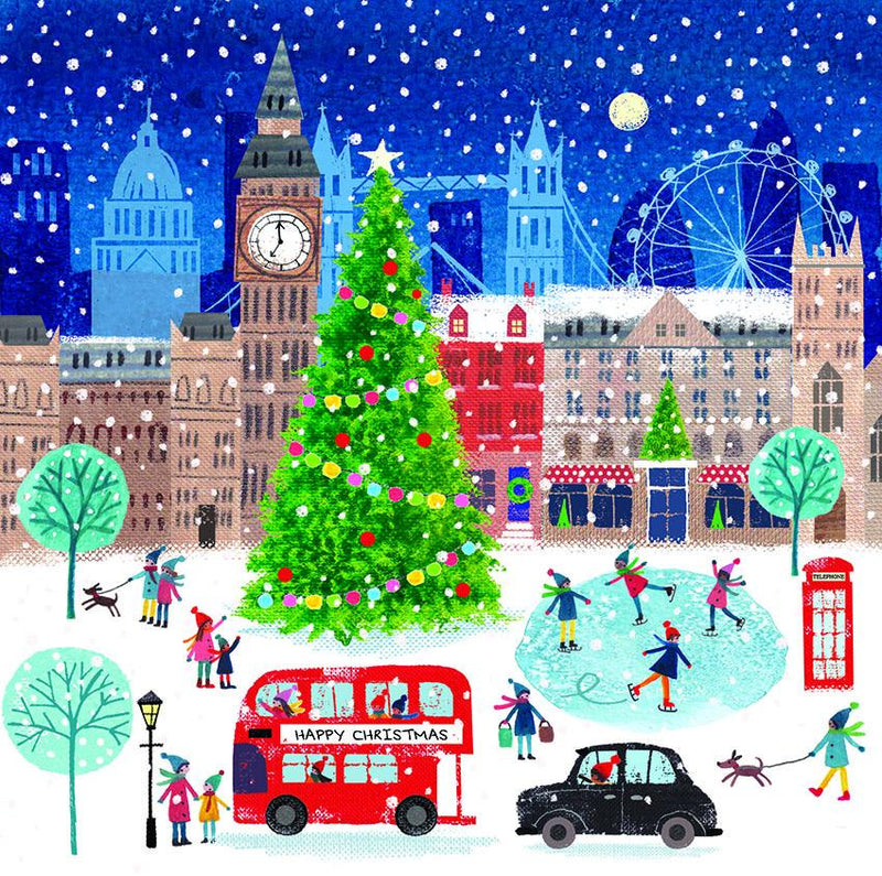Christmas in London Christmas cards - pack of 10