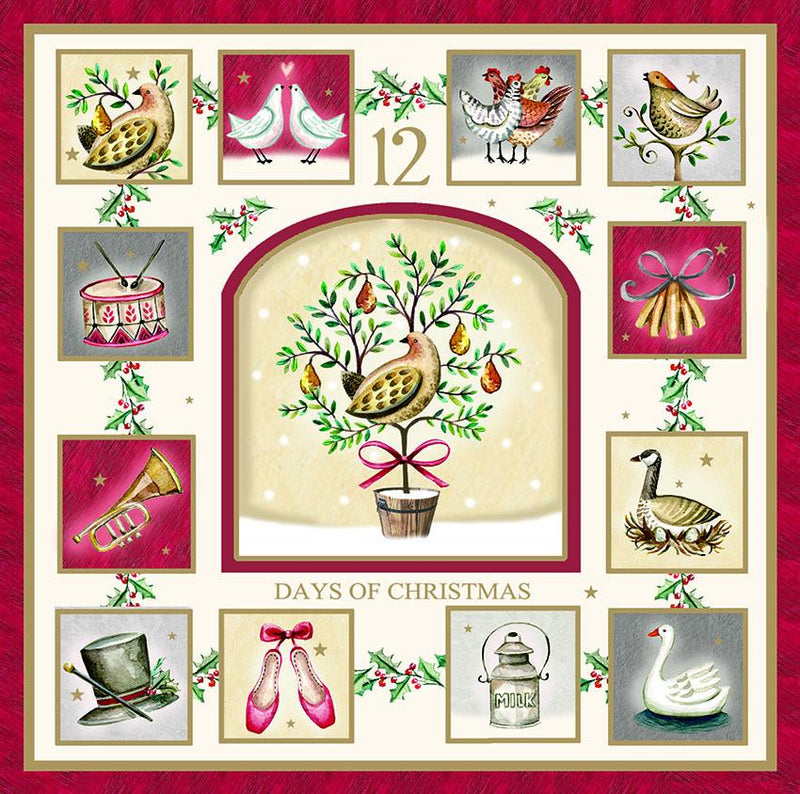 Twelve Days of Christmas Christmas cards - pack of 10