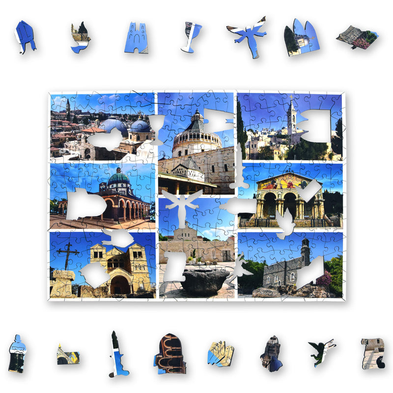 Churches of the Holy Land Jigsaw - whimsy pieces