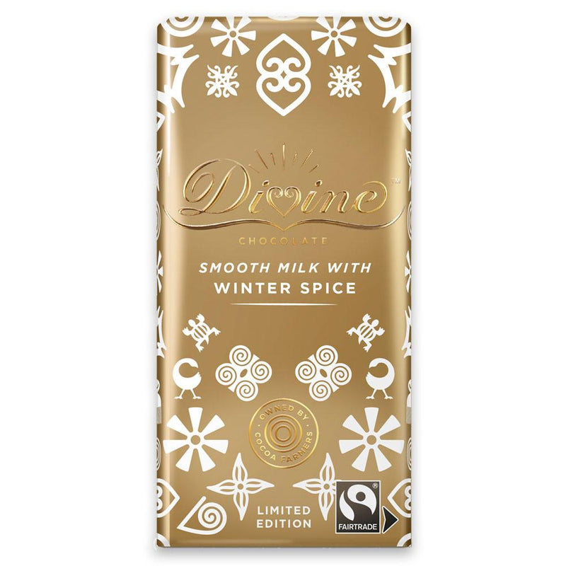 Divine Fairtrade Limited Edition Milk Chocolate with Winter Spice