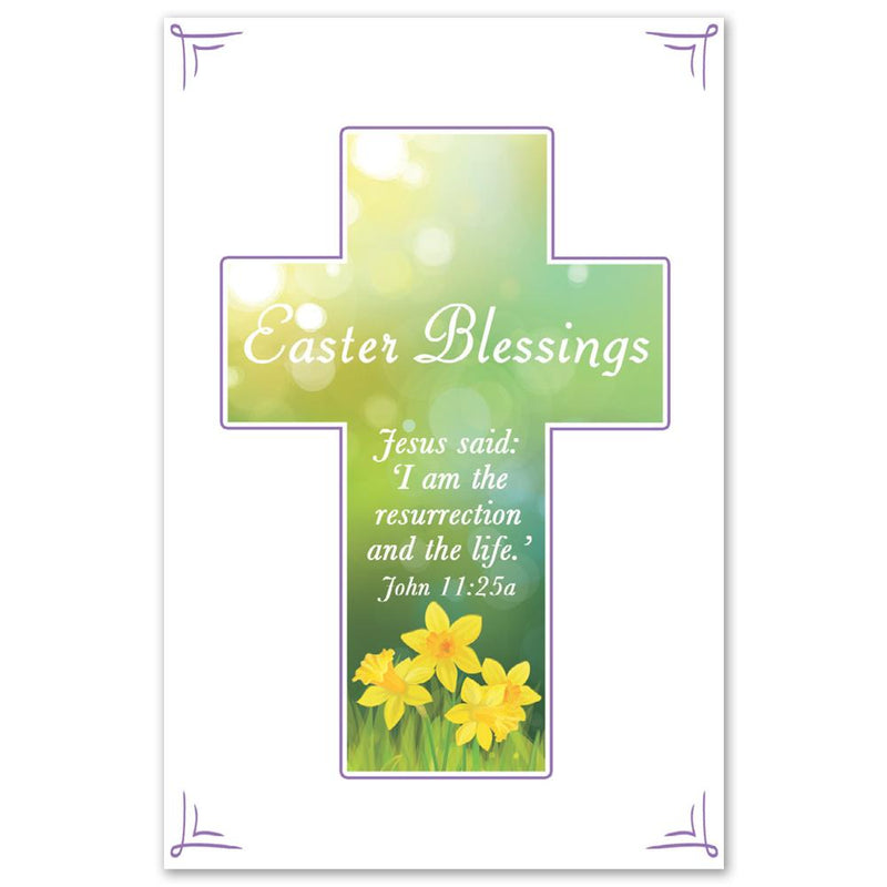 Daffodil Cross Easter Card