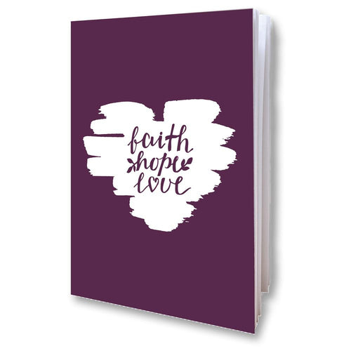 Faith Hope Love Notebook