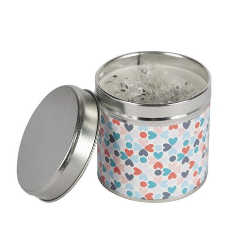 Heart Print Candle