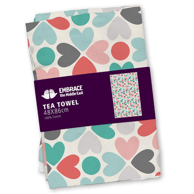 Heart Print Tea-towel