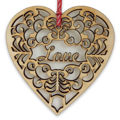 Hanging Heart Decoration - Love