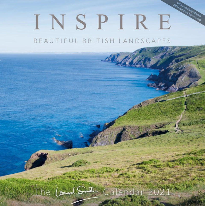Inspire Calendar 2021 front cover - featuring photography by Leonard Smith