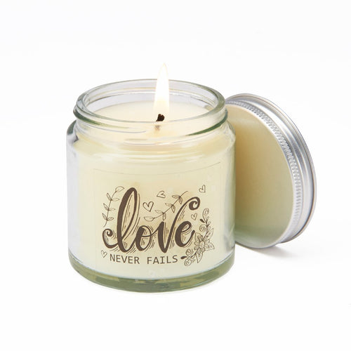 Love Never Fails Candle
