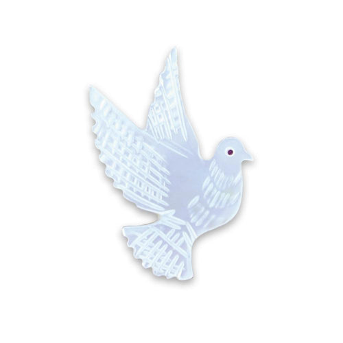 Mother of Pearl Dove Brooch