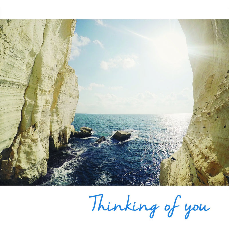 Thinking of You Notecards - pack of 5, image of Rosh Hanikra Grotto