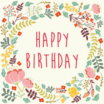 Birthday Floral Notecards