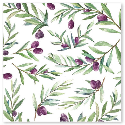 Olive Print Notecards