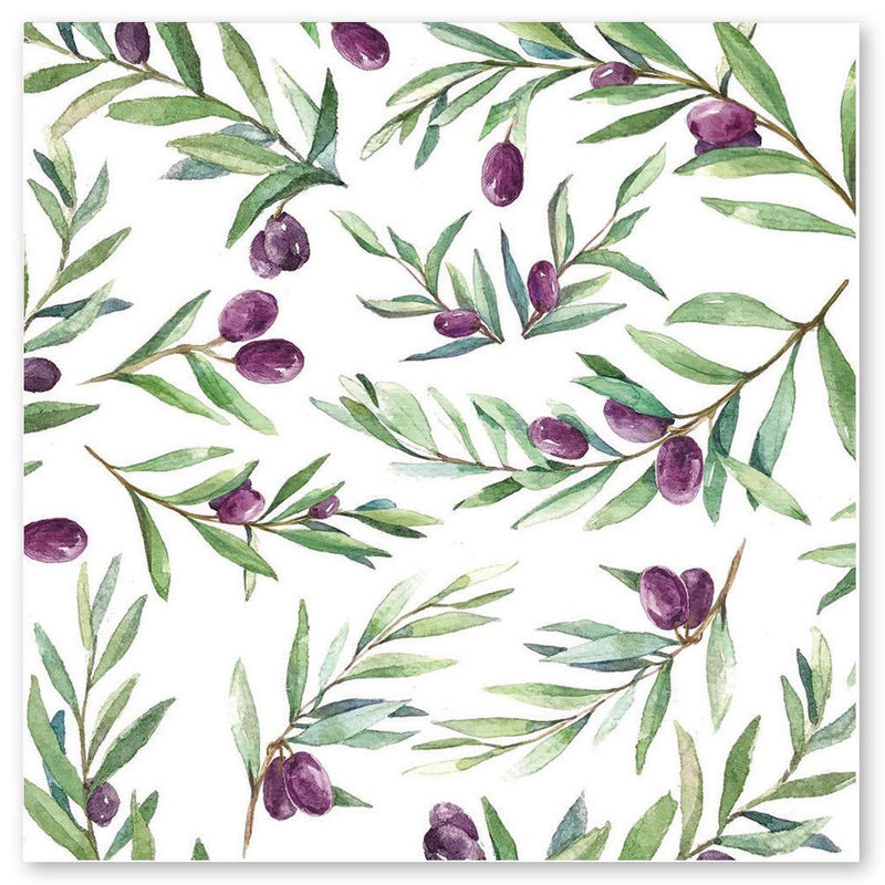 Olive Print Notecards - pack of 5