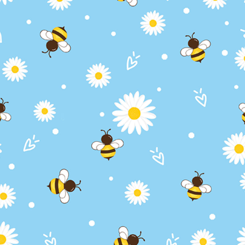 Daisy and Bee Notecards - pack of 5 - blank inside for your own message
