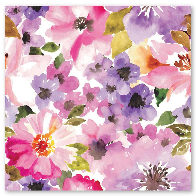 Blessings and Blooms Notecards - pack of 5 - floral watercolour design