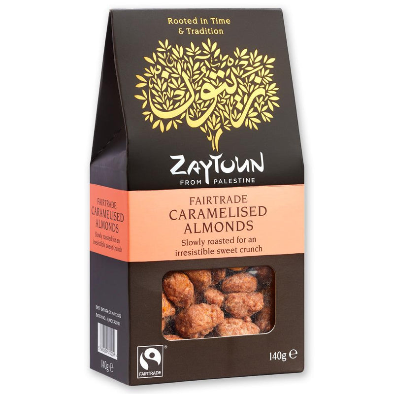 Fairtrade Caramelised Almonds from Palestine - 140g pack