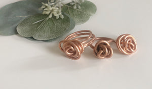 Kopper Rose Handcrafted Copper Rosette Rings