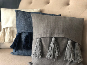 Mimi's Fancy Stitches Tassel Front Accent Pillows