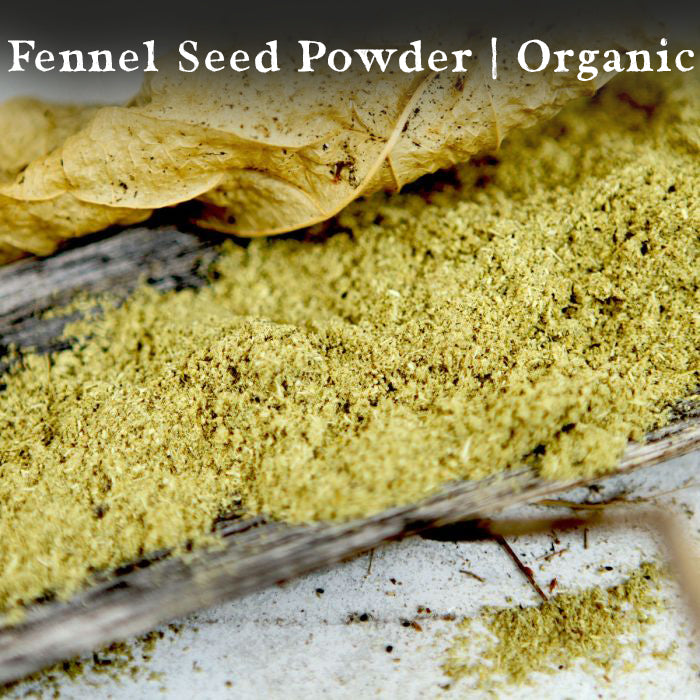 Fennel Seed Powder, Organic, 1/2 LB.